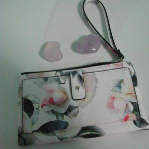 Floral Wallet - Indigo